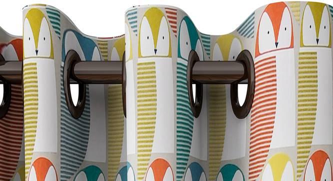 "Louise Curtain (122 x 213 cm(48"" x 84"") Curtain Size) by Urban Ladder - Design 1 Top View - 322849"
