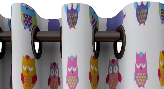 "Calliope Curtain (White, 122 x 213 cm(48"" x 84"") Curtain Size) by Urban Ladder - Design 1 Top View - 322868"