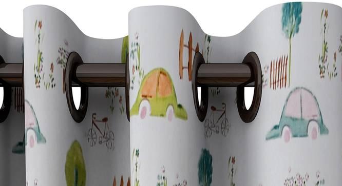 "Miranda Curtain (White, 122 x 274 cm(48"" x 108"") Curtain Size) by Urban Ladder - Design 1 Top View - 322905"