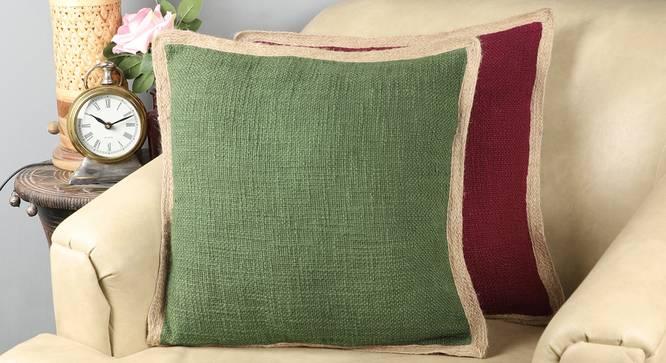 """Fras Cushion Cover (41 x 41 cm  (16"""" X 16"""") Cushion Size) by Urban Ladder - Design 1 Full View - 322989"""
