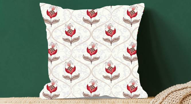 "Isaac Cushion Cover (Red, 41 x 41 cm  (16"" X 16"") Cushion Size) by Urban Ladder - Design 1 Full View - 323119"