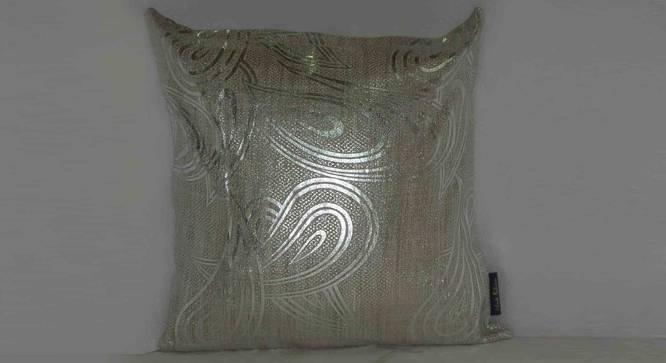 "Shay Cushion Cover (White, 41 x 41 cm  (16"" X 16"") Cushion Size) by Urban Ladder - Design 1 Full View - 323123"