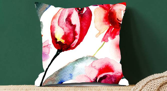 "May Cushion Cover (Grey, 41 x 41 cm  (16"" X 16"") Cushion Size) by Urban Ladder - Design 1 Full View - 323231"