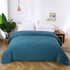 Beatrice comforter teal blue solid double lp