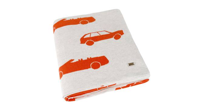 Swanky Cars Blanket by Urban Ladder - Design 1 Top View - 323433