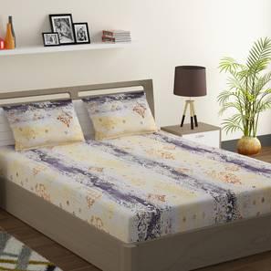Ebony bedsheet set yellow grey king normal lp