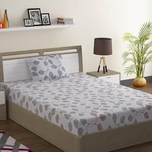 Leona bedsheet set white grey single normal lp