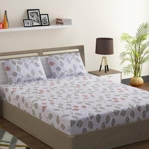 Leona bedsheet set white grey king normal lp