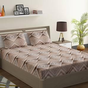 Marion bedsheet set white brown king normal lp