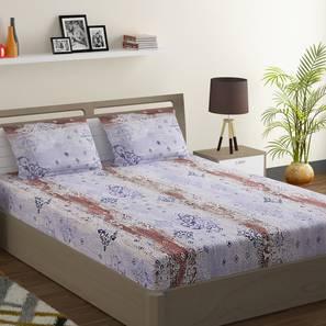 Sarah bedsheet set blue pink double normal lp
