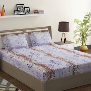 Sarah bedsheet set blue pink king normal lp