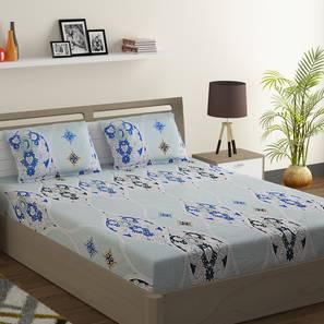 Todd bedsheet set blue white king normal lp