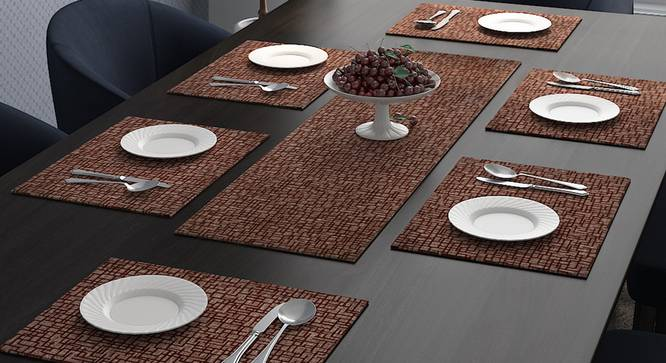 Pablo Table Runner (Brown) by Urban Ladder - Design 1 Full View - 323998