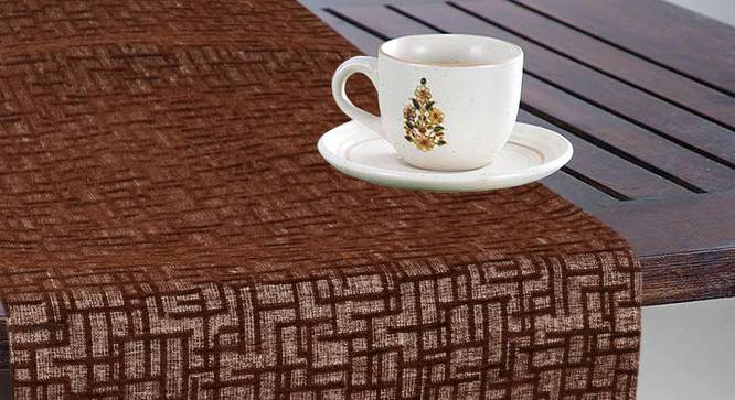 Pablo Table Runner (Brown) by Urban Ladder - Design 1 Top Image - 324000