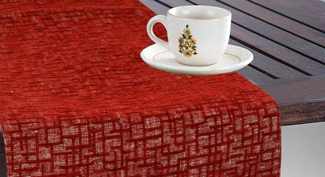 Pablo Table Runner (Maroon) by Urban Ladder - Design 1 Full View - 324008