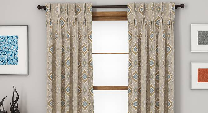 "Mayfair Door Curtains - Set Of 2 (112 x 213 cm  (44"" x 84"") Curtain Size) by Urban Ladder - Design 1 Full View - 324304"