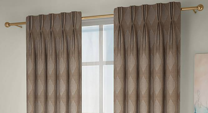 "Abetti Door Curtains - Set Of 2 (Brown, 112 x 213 cm  (44"" x 84"") Curtain Size) by Urban Ladder - Design 1 Full View - 324340"