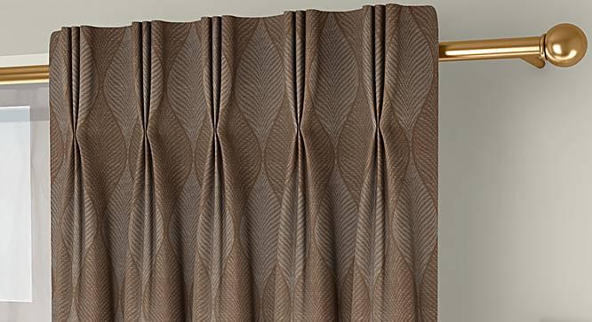 "Abetti Door Curtains - Set Of 2 (Brown, 112 x 274 cm  (44"" x 108"") Curtain Size) by Urban Ladder - Front View Design 1 - 324346"
