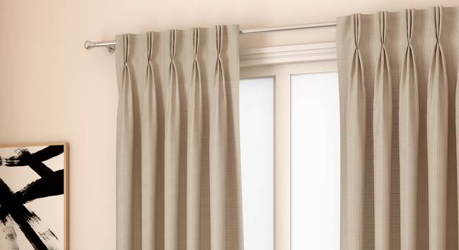 "Milano Window Curtains - Set Of 2 (Blue, 112 x 152 cm  (44"" x 60"") Curtain Size) by Urban Ladder - Design 1 Full View - 324356"