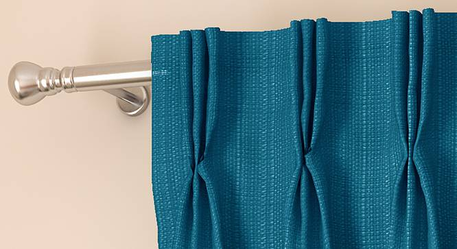 """Milano Door Curtains - Set Of 2 (Blue, 112 x 213 cm  (44"""" x 84"""") Curtain Size) by Urban Ladder - Front View Design 1 - 324363"""