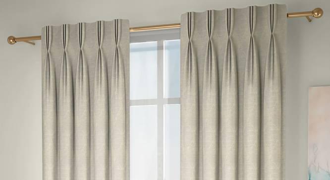 "Abetti Door Curtains - Set Of 2 (Cream, 112 x 213 cm  (44"" x 84"") Curtain Size) by Urban Ladder - Design 1 Full View - 324412"