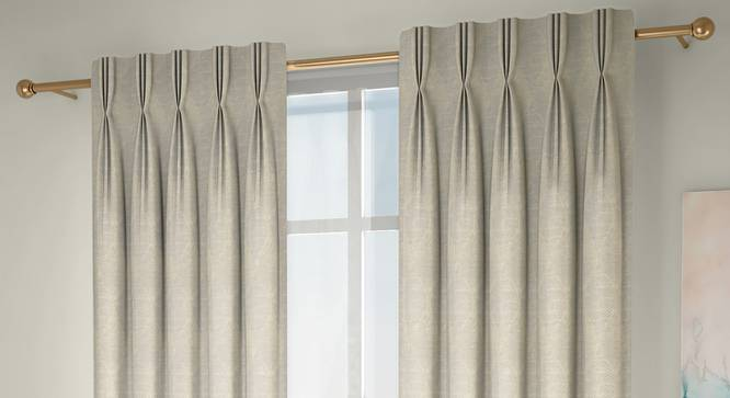 "Abetti Door Curtains - Set Of 2 (Cream, 112 x 274 cm  (44"" x 108"") Curtain Size) by Urban Ladder - Design 1 Full View - 324422"