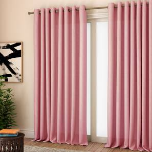 """Milano Window Curtains - Set Of 2 (Pink, 112 x 152 cm  (44"""" x 60"""") Curtain Size) by Urban Ladder - Design 1 Full View - 324483"""