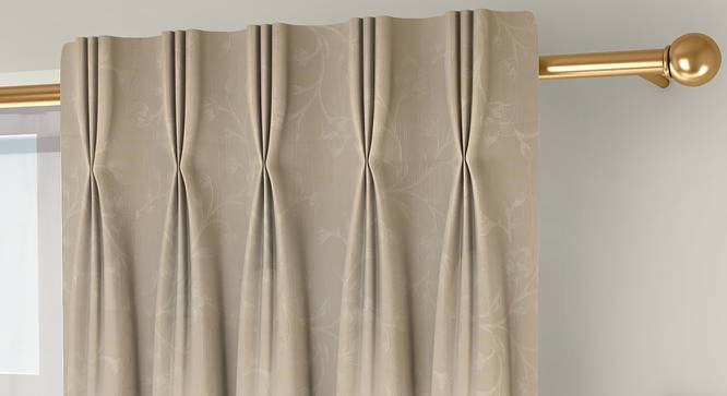 "Pazaz Door Curtains - Set Of 2 (Cream, 112 x 274 cm  (44"" x 108"") Curtain Size) by Urban Ladder - Front View Design 1 - 324508"