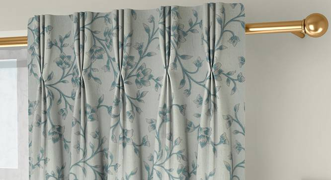 "Pazaz Door Curtains - Set Of 2 (Turquoise, 112 x 274 cm  (44"" x 108"") Curtain Size) by Urban Ladder - Front View Design 1 - 324526"