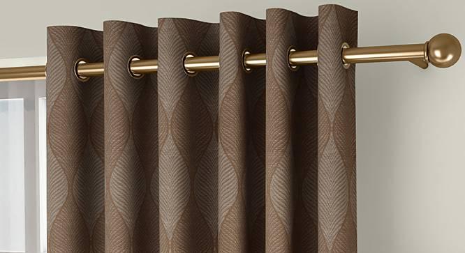 "Abetti Door Curtains - Set Of 2 (Brown, 112 x 274 cm  (44"" x 108"") Curtain Size) by Urban Ladder - Front View Design 1 - 324543"