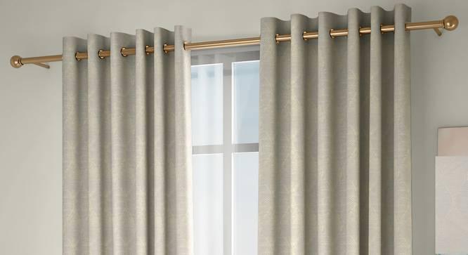 "Abetti Door Curtains - Set Of 2 (Cream, 112 x 213 cm  (44"" x 84"") Curtain Size) by Urban Ladder - Design 1 Full View - 324553"