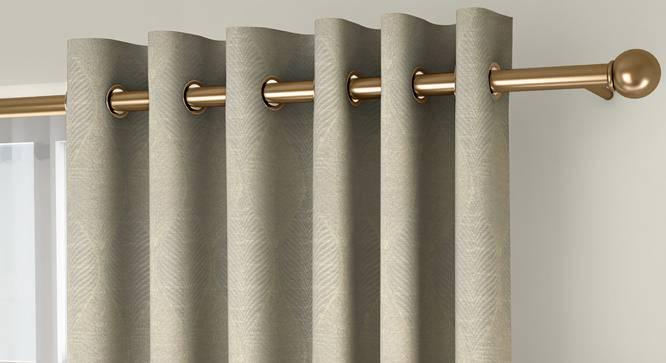 "Abetti Door Curtains - Set Of 2 (Cream, 112 x 274 cm  (44"" x 108"") Curtain Size) by Urban Ladder - Front View Design 1 - 324559"