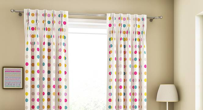 """Polka Party Door Curtains - Set Of 2 (112 x 213 cm  (44"""" x 84"""") Curtain Size) by Urban Ladder - Design 1 Full View - 324569"""
