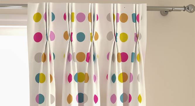 """Polka Party Door Curtains - Set Of 2 (112 x 274 cm  (44"""" x 108"""") Curtain Size) by Urban Ladder - Front View Design 1 - 324576"""