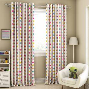 """Polka Party Door Curtains - Set Of 2 (112 x 213 cm  (44"""" x 84"""") Curtain Size) by Urban Ladder - Design 1 Full View - 324587"""