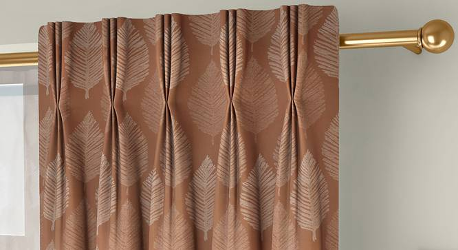 "Provencia Door Curtains - Set Of 2 (Brown, 112 x 274 cm  (44"" x 108"") Curtain Size) by Urban Ladder - Front View Design 1 - 324628"