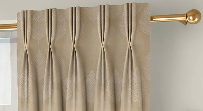 "Provencia Door Curtains - Set Of 2 (Cream, 112 x 274 cm  (44"" x 108"") Curtain Size) by Urban Ladder - Front View Design 1 - 324646"