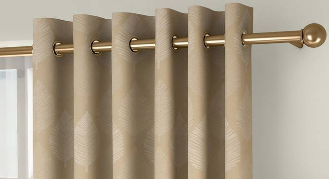 "Provencia Door Curtains - Set Of 2 (Cream, 112 x 274 cm  (44"" x 108"") Curtain Size) by Urban Ladder - Front View Design 1 - 324682"