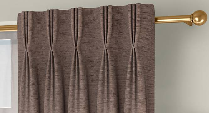 """Windermere Blackout Window Curtains - Set Of 2 (Beige, 112 x 152 cm  (44"""" x 60"""") Curtain Size) by Urban Ladder - Front View Design 1 - 324706"""