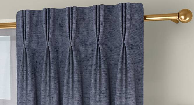 """Windermere Blackout Door Curtains - Set Of 2 (Blue, 112 x 213 cm  (44"""" x 84"""") Curtain Size) by Urban Ladder - Front View Design 1 - 324728"""
