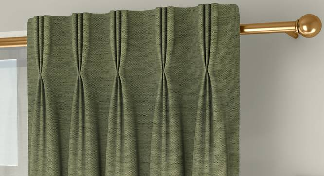 """Windermere Blackout Window Curtains - Set Of 2 (Green, 112 x 152 cm  (44"""" x 60"""") Curtain Size) by Urban Ladder - Front View Design 1 - 324758"""