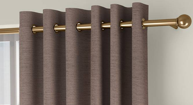"""Windermere Blackout Door Curtains - Set Of 2 (Beige, 112 x 274 cm  (44"""" x 108"""") Curtain Size) by Urban Ladder - Front View Design 1 - 324770"""