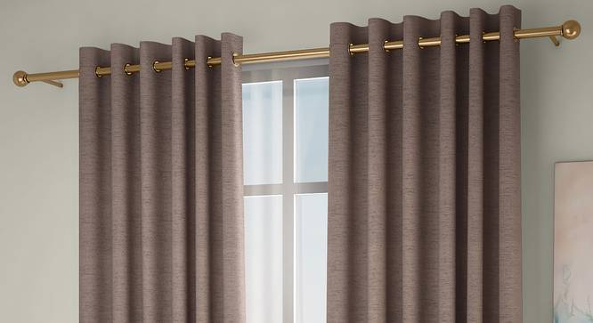 """Windermere Blackout Window Curtains - Set Of 2 (Beige, 112 x 152 cm  (44"""" x 60"""") Curtain Size) by Urban Ladder - Design 1 Full View - 324775"""