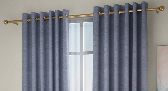 """Windermere Blackout Window Curtains - Set Of 2 (Blue, 112 x 152 cm  (44"""" x 60"""") Curtain Size) by Urban Ladder - Design 1 Full View - 324809"""