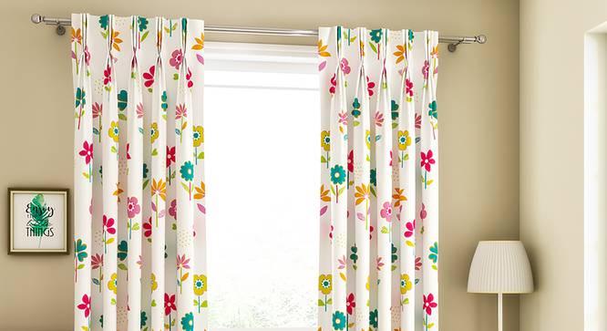 "Wonderland Door Curtains - Set Of 2 (112 x 274 cm  (44"" x 108"") Curtain Size) by Urban Ladder - Design 1 Full View - 324855"