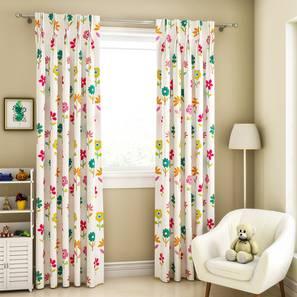 "Wonderland Window Curtains - Set Of 2 (112 x 152 cm  (44"" x 60"") Curtain Size) by Urban Ladder - Design 1 Full View - 324861"