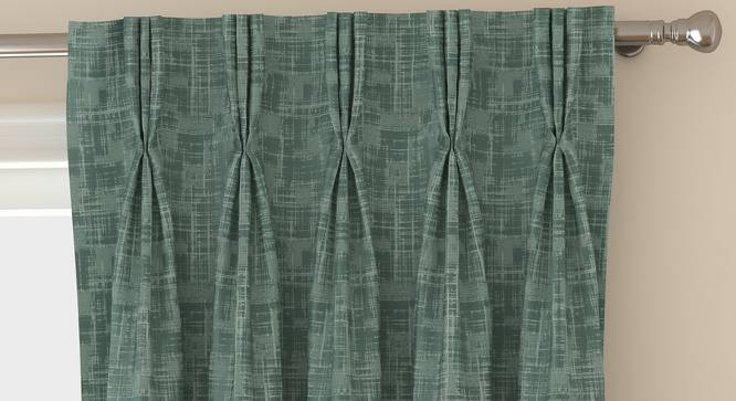 "Arezzo Door Curtains - Set Of 2 (Aqua, 112 x 274 cm  (44"" x 108"") Curtain Size) by Urban Ladder - Front View Design 1 - 324963"