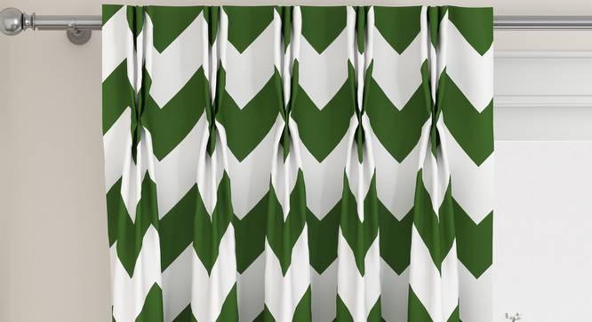 "Chevron Door Curtains - Set Of 2 (Green, 112 x 274 cm  (44"" x 108"") Curtain Size) by Urban Ladder - Design 1 Top View - 324986"
