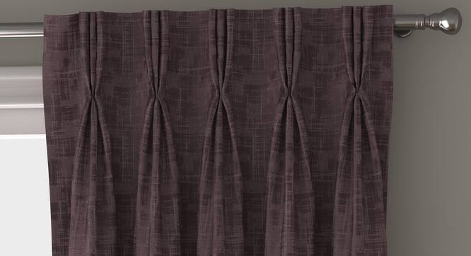 "Arezzo Door Curtains - Set Of 2 (112 x 274 cm  (44"" x 108"") Curtain Size, Heather) by Urban Ladder - Front View Design 1 - 325033"