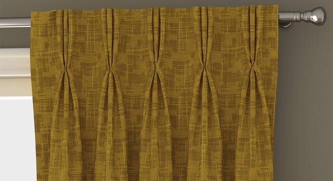 "Arezzo Door Curtains - Set Of 2 (112 x 274 cm  (44"" x 108"") Curtain Size, HONEY) by Urban Ladder - Front View Design 1 - 325067"